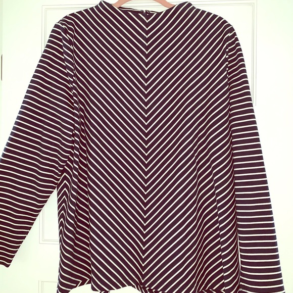 Talbots Tops - NWOT Talbots mock neck striped top